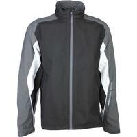 Galvin Green Waterproof Golf Jacket - ASTON Black - Iron Grey