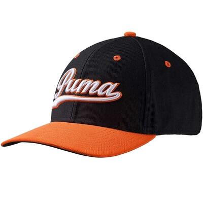 Puma Golf Cap Script Pre Curved Black Orange SS16