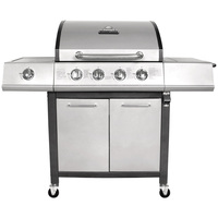 Charles Bentley 5 Burner Premium Gas BBQ  Available In Grey Or Black (Colour: Grey)