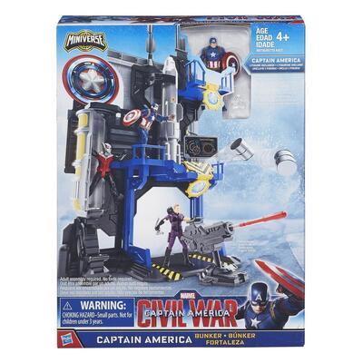 Marvel Captain America: Civil War Miniverse Playset   Captain America Bunker