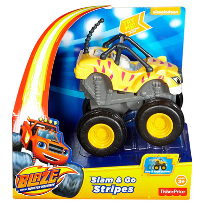 Fisher Price Nickelodeon Blaze And The Monster Machines Slam & Go Stripes