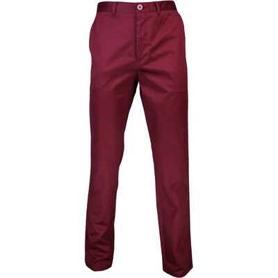 Lyle Scott Golf Trousers Cheswick Chino Claret Jug AW16