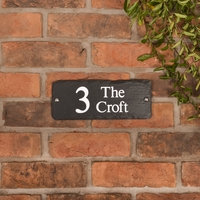 Rustic Slate Address Sign 25.5 x 10cm
