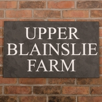 Slate House Sign 3 line 75 x 45cm - smooth slate