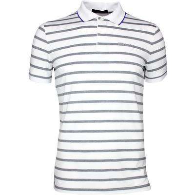 RLX Golf Shirt Striped Airflow Pure White Grey SS17