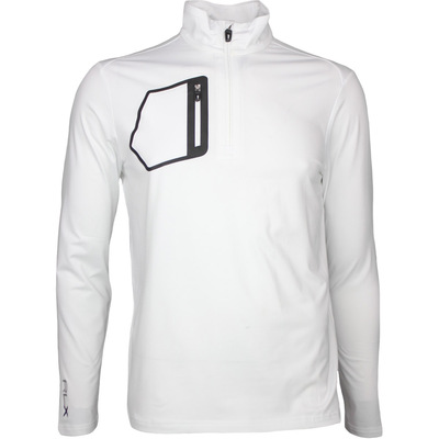 RLX Golf Pullover Brushback Jersey Pure White SS17