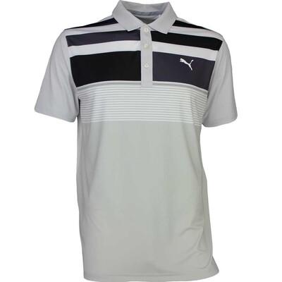 Puma Golf Shirt Road Map Asym Glacier Grey SS17