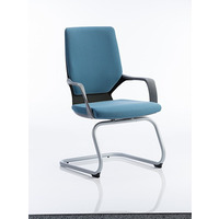 Image of Xenon Visitor Chair Black Shell with Blue Fabric
