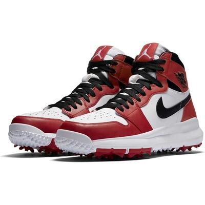 Nike Golf Shoes Air Jordan 1 White Black Varsity Red 2017