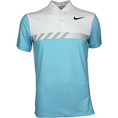 Nike Golf Shirt MM Fly Framing Block Blade Vivid Sky SS17