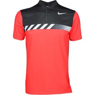 Nike Golf Shirt MM Fly Framing Block Blade Max Orange SS17
