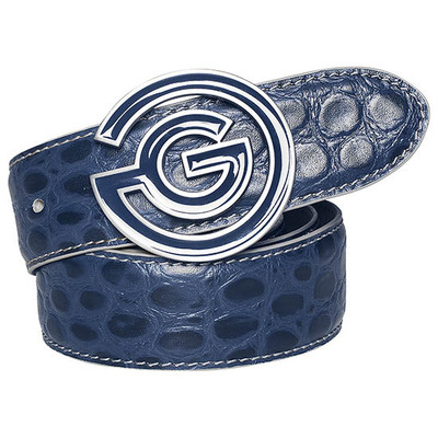 Galvin Green Golf Belt WESLEY Leather Navy AW17