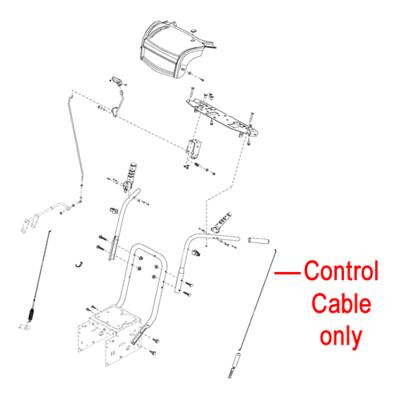 Stiga Stiga 1812-2029-01 Control Cable for the Stiga Snow Fox and Snow Rex