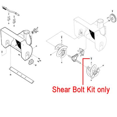 Stiga Stiga 1812-9005-01 Shear Bolt Kit for the Stiga Snow Flake and Snow Blizzard