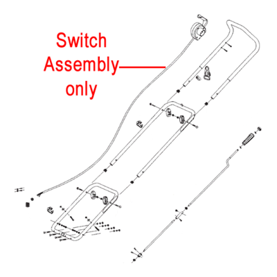 Stiga Stiga Snow Blower Switch Assembly 1811-2657-01