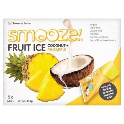 Smooze Pineapple & Coconut Fruit Ice Lollies