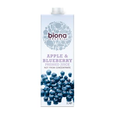 Biona Organic Apple & Blueberry Juice 1 Litre