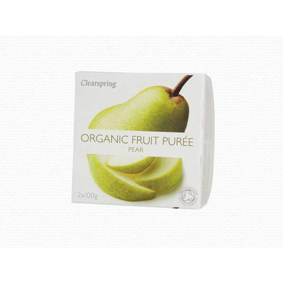 Clearspring Organic Fruit Purée Pear 2 x 100g