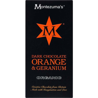 Montezuma's Organic Dark Chocolate Orange & Geranium Bar 100g