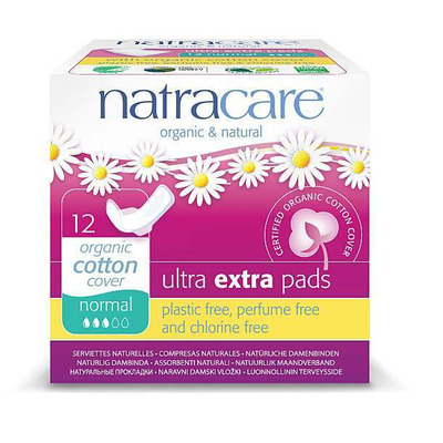 Natracare Ultra Extra Pads Normal with Wings - Pack of 12
