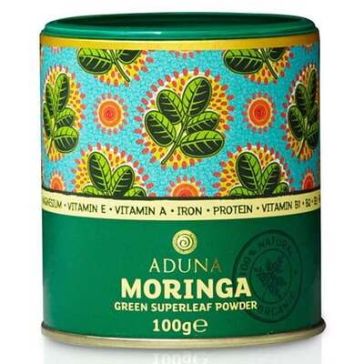 Aduna 100% Organic Moringa Superleaf Powder 100g