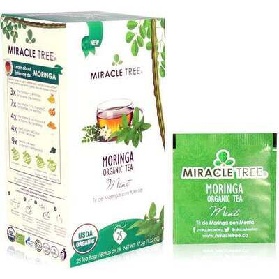 Miracle Tree Moringa Organic Mint Tea 25 Bags
