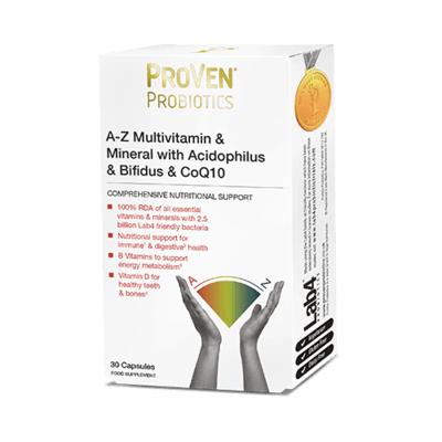 Proven Probiotics A-Z Multivitamin & Mineral & CoQ10 30 Capsules