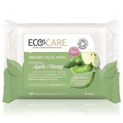 Ecocare Organic Apple & Honey Facial Wipes