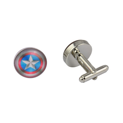 Captain America Shiny Shield Cufflinks