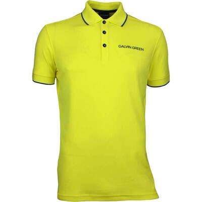 Galvin Green Golf Shirt MILLER Tour Ventil8 Yellow AW17