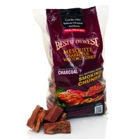 Best of the West Mesquite Barbecue Smoking Chips Wood Chunks 2.7kg