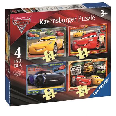 Ravensburger Disney Pixar Cars 3, 4 in a box (12, 16, 20, 24pc) Jigsaw Puzzles