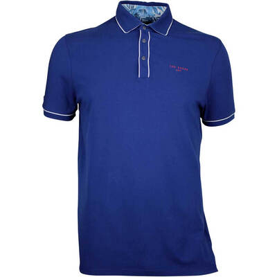 Ted Baker Golf Shirt Offset Polo Navy AW17