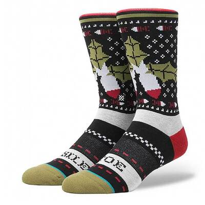 Stance Christmas Socks Missle Toe Single Pair 2017