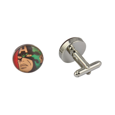 Comic Book Retro Captain America Art Cufflinks