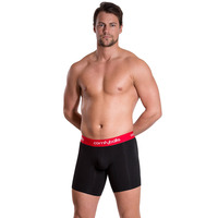 Comfyballs Black/red Longer Leg Cotton Boxer Brief