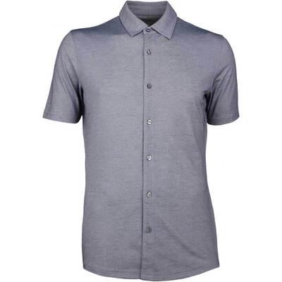 Puma Golf Shirt Full Button Knit LE Peacoat SS18