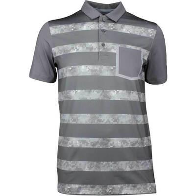 Puma Golf Shirt Camo Stripe Quiet Shade LE SS18