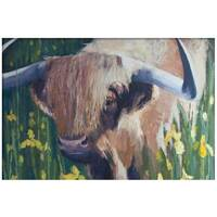 """Image of """"Walking Through the Irises"""" Highland Cow - Signed Limited Edition Print"""