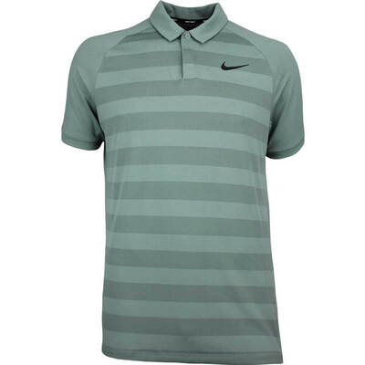 Nike Golf Shirt Zonal Cooling Stripe Clay Green SS18