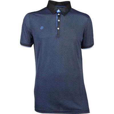 Galvin Green Golf Shirt MARLON Black Kings Blue SS18