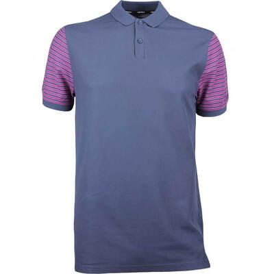 Nike Golf Shirt NK Dry Pique Stripe Thunder Blue SS18