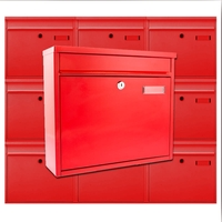 Multiple Ouse Red Mailboxes for Communal Areas
