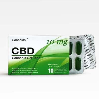 Canabidol CBD Gel-Tabs 100mg - 10 Gel Tabs