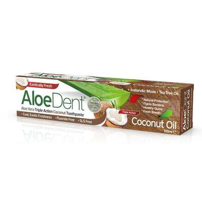 AloeDent Triple Action Coconut Oil Toothpaste 100ml