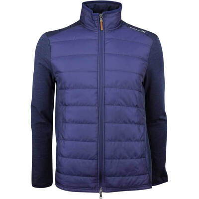 RLX Golf Jacket Quilted Coolwool Navy Heather AW18