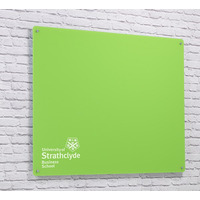 Image of Magnetic Glass Board with your Logo 1200 x 1200mm Lime