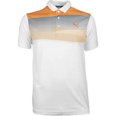 Puma Golf Shirt Ultralite Refraction Vibrant Orange LE AW18