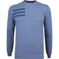 Image of Adidas Golf Jumper - Blend Crew Sweater - Tech Ink Melange AW18