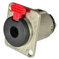 "Cobra 1/4"" (6.35mm) Mono/Stereo, Locking Jack Socket, For Panel Mounting"